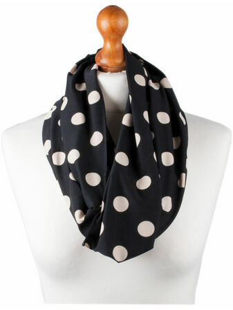Palm and Pond Nursing Scarf - Black with Cream Spots