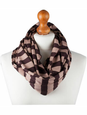 Palm and Pond Nursing Scarf - Brown Stripe
