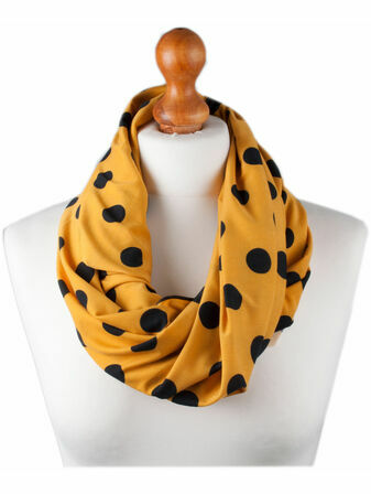 Palm and Pond Nursing Scarf - Yellow with Black Spots