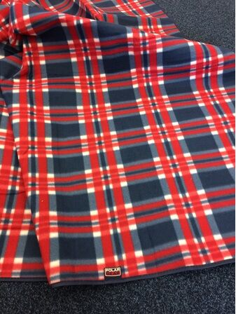 Navy Check Superior Picnic Rug
