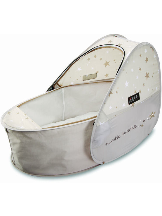 Koo-Di Sun & Sleep Pop-Up Travel Bassinet in Star Print Design
