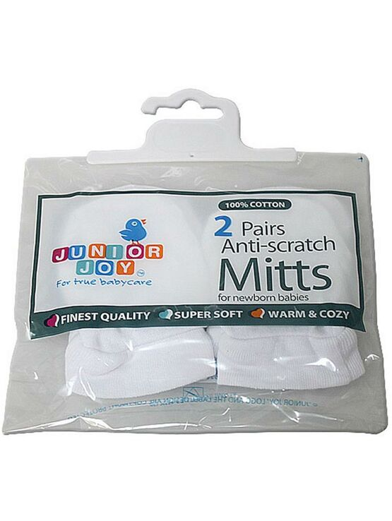 Junior Joy 2 Pair Anti-Scratch Mitts for Newborn