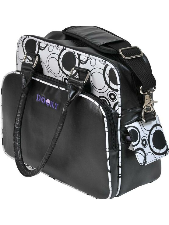 Dooky Changing Bag with Pull & Wipe Black Circles