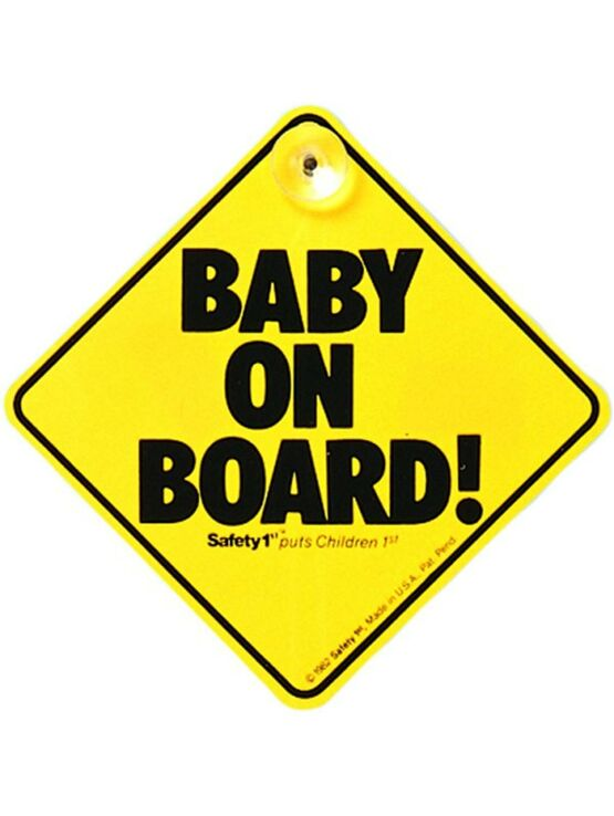 "Safety 1st ""Baby on Board"" car window sign with suction cup"