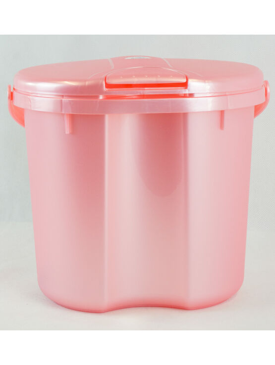 Rotho Babydesign Light Pink Nappy Bucket With Lid 11Ltr Capacity