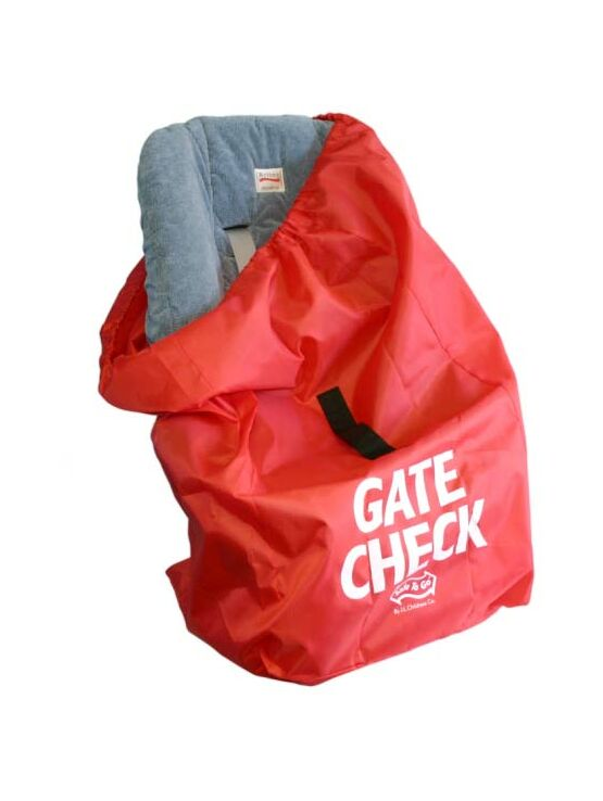 J L Childress Gate Check Bag for Baby Car Seats - Red