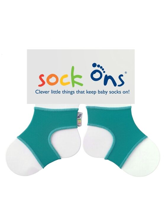 Baby Sock Ons - Bright Turquoise