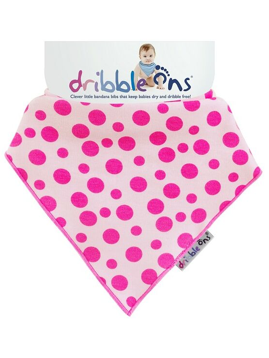 Dribble Ons Dribble Cloth - Funky Pink Spot Design