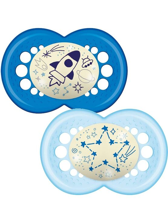 MAM Night Soother 6+ months 2 pack