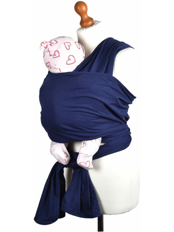 Palm and Pond Stretchy Cotton Baby Wrap Sling - Navy