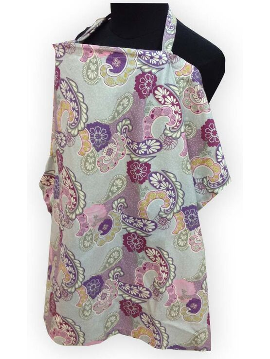 Palm & Pond Large Breastfeeding Cover, in Purple Paisley