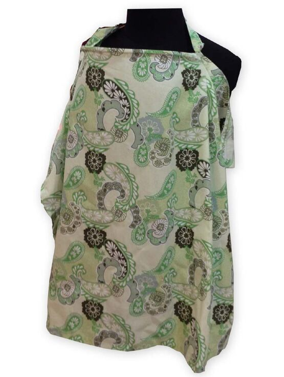 Palm & Pond Breastfeeding Cover With Boning  - Celadon Paisley - Various Sizes