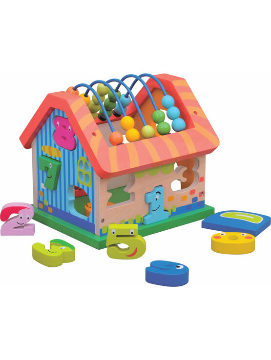 Jumini Activity House Natural Wood Development Toy