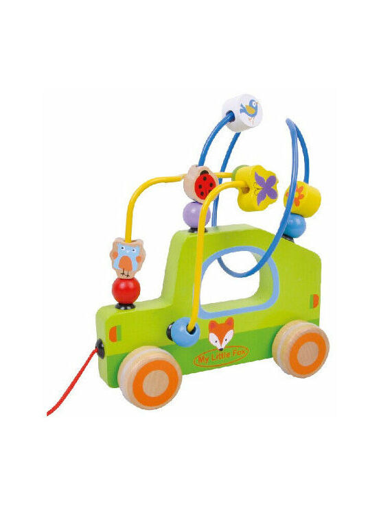 Jumini Pull Along Bead Maze Car Development Toy