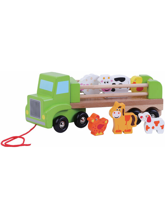 Jumini Farm Lorry Natural wood Development Toy