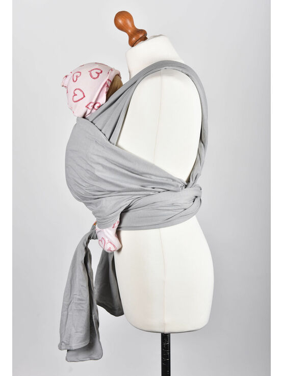 Palm and Pond Stretchy Cotton Baby Wrap Sling - Grey