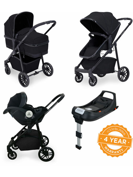 Ickle Bubba Moon i-Size 3 in 1 Travel System Mercury Car Seat With Isofix Base
