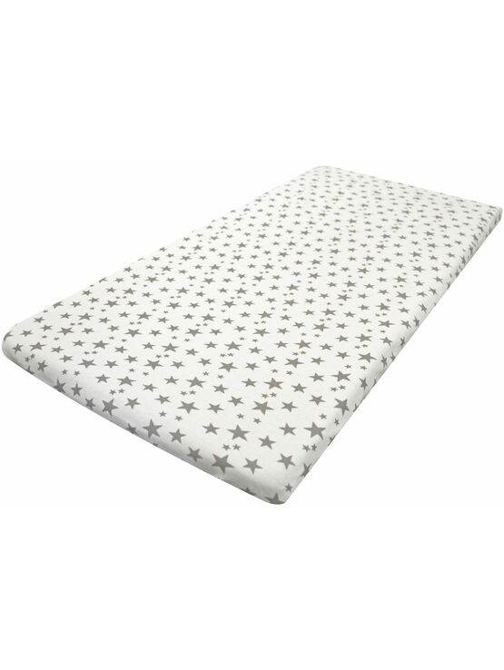 Cuddles Collection Next 2 Me Crib Fitted Sheet Silver Stars