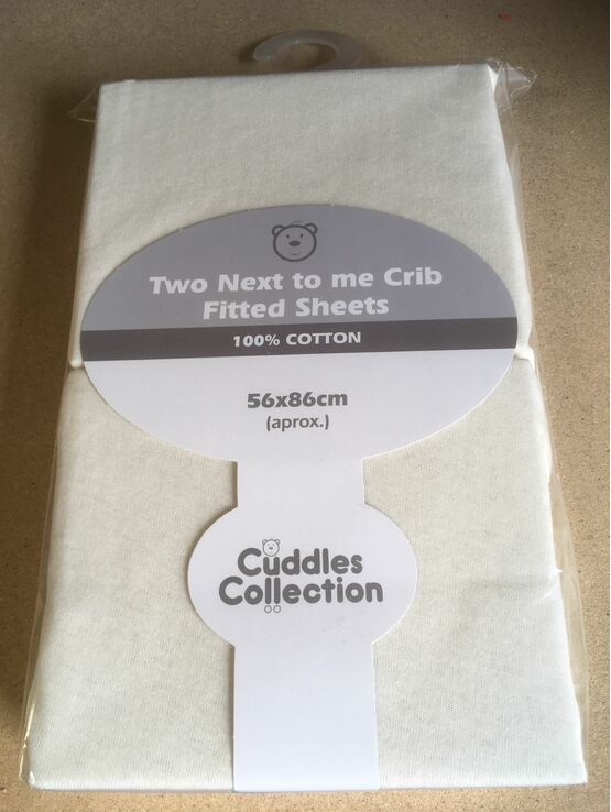 Cuddles Collection Next 2 Me Crib Fitted Sheet 2 Pack - Choose your Colour