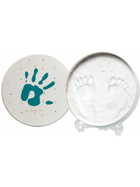 Baby Art Magic Box Round Hand Footprint Cast