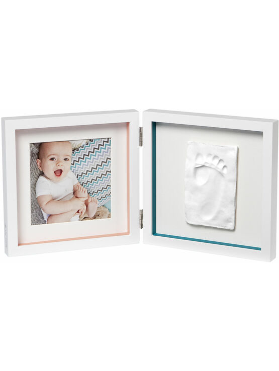 Baby Art My Baby Style Hand Footprint and photo frame - Choose your colour