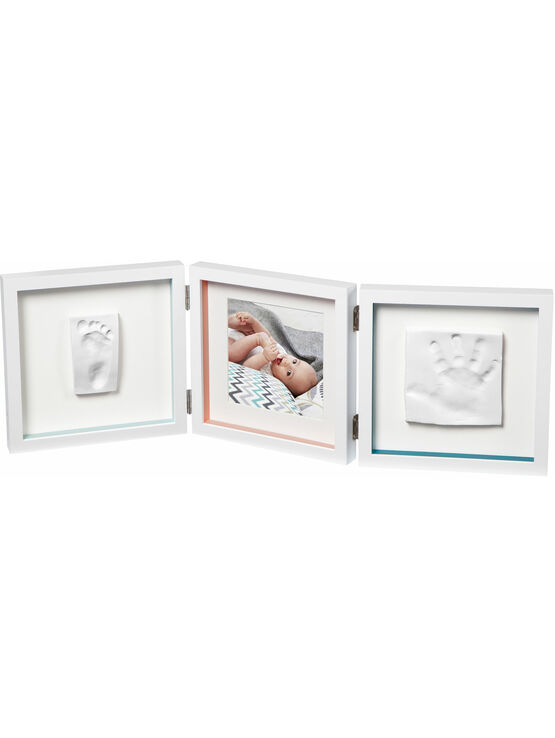 Baby Art My Baby Style Double Print baby hand and footprint keepsake - Available in Grey and White