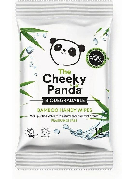 Biodegradable Bamboo Handy Wipes - 12 Wipes