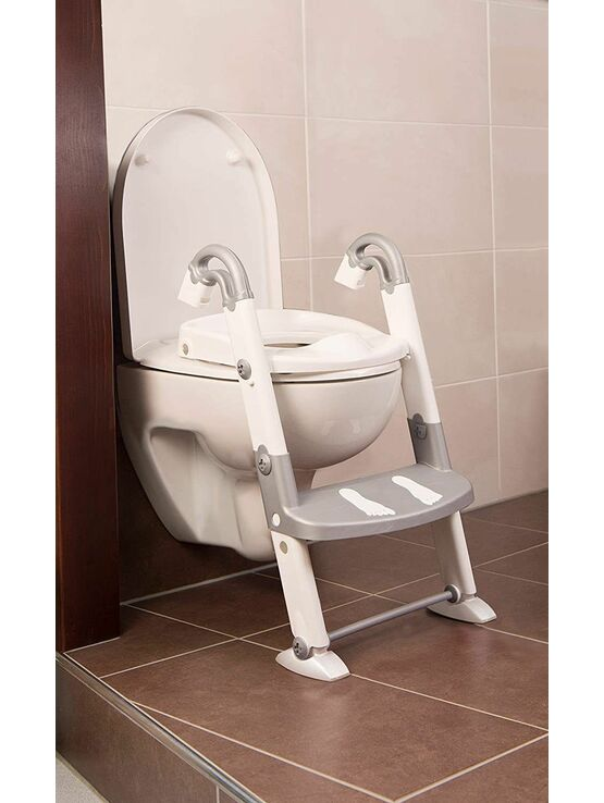 Kids Kit 3 in 1 Toilet Trainer - Grey/White