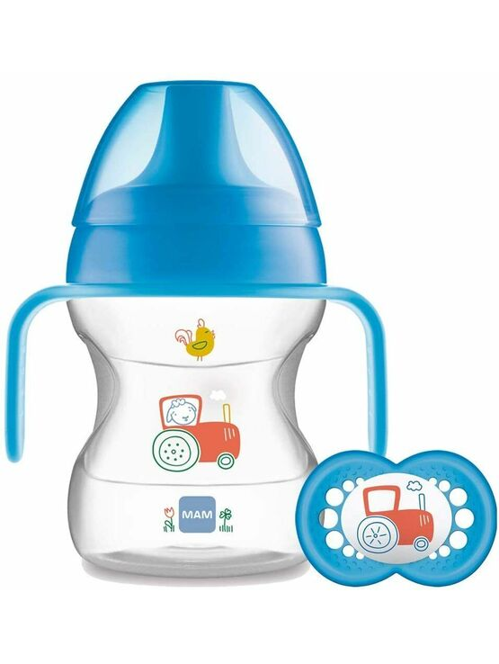 MAM Learn to Drink Cup 190ml with Handles and Soother