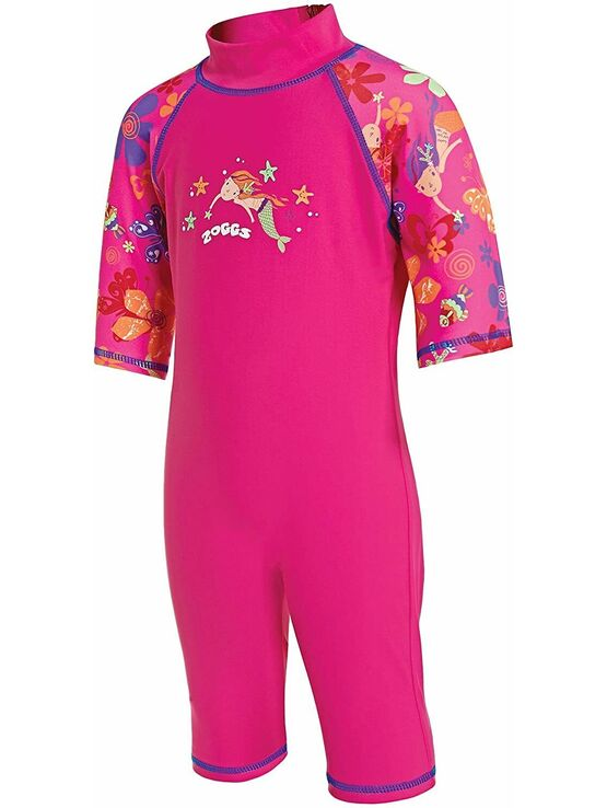 Zoggs Sun Protection Swimsuit Mermaid Pink Choose your age