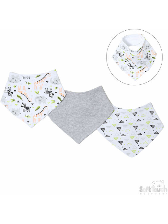 Soft Touch Bandana Bibs 3 Pack