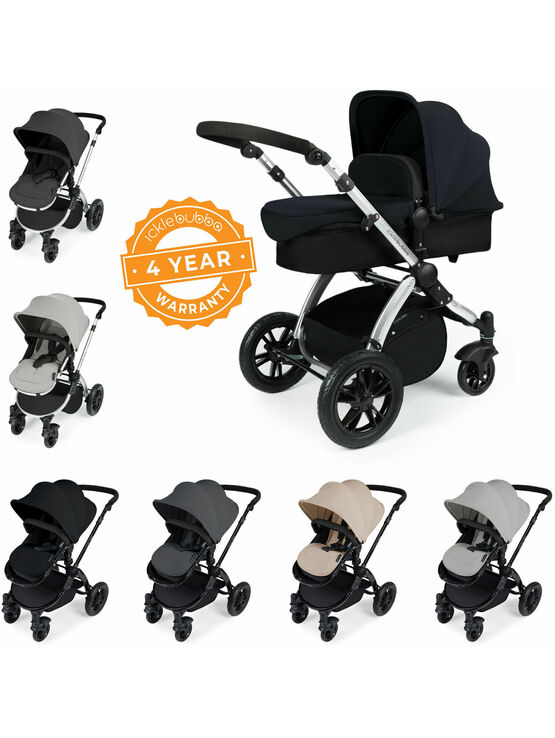 Ickle Bubba Stomp V2 All-In-One Travel System - Pushchair, Carrycot, Car Seat & Accessories