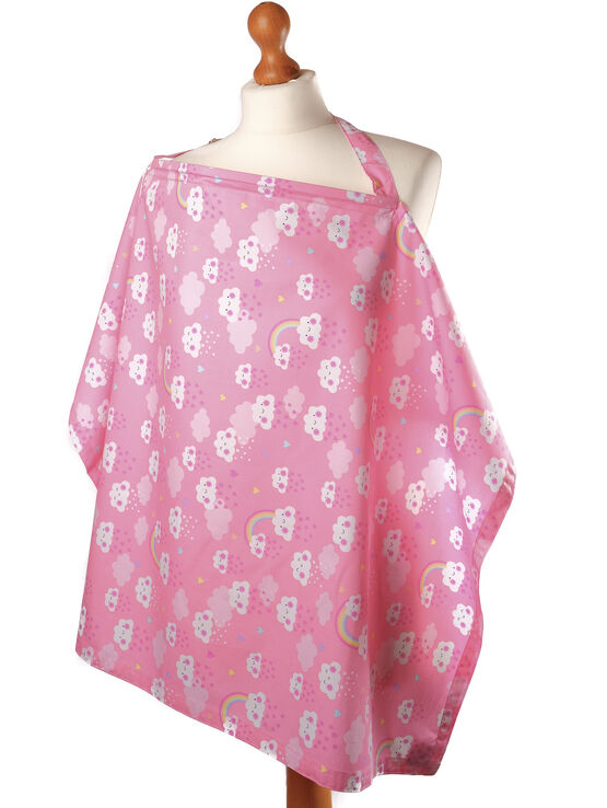 Palm and Pond Breastfeeding Cover - Cute Cloud Baby Pink
