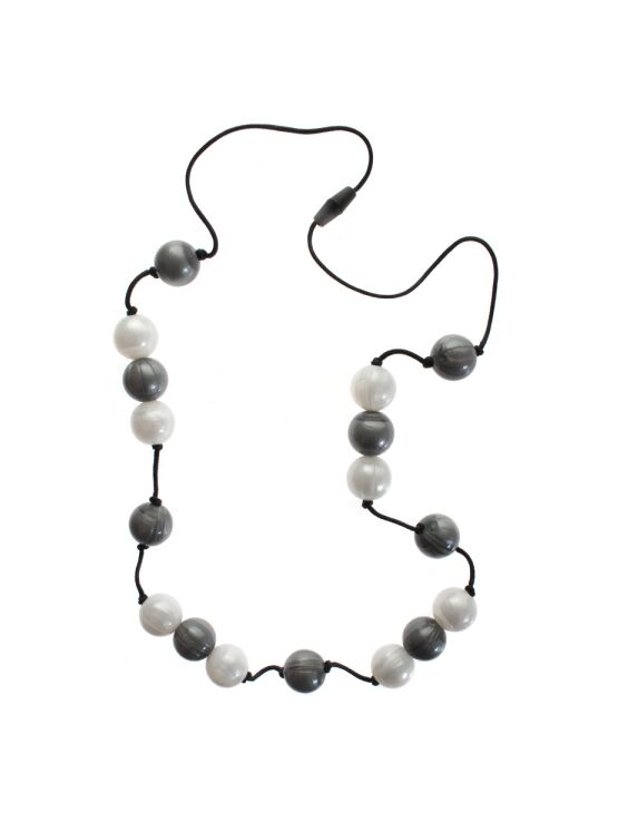Gumigem Gumibeads Teething Necklace - Grey/White
