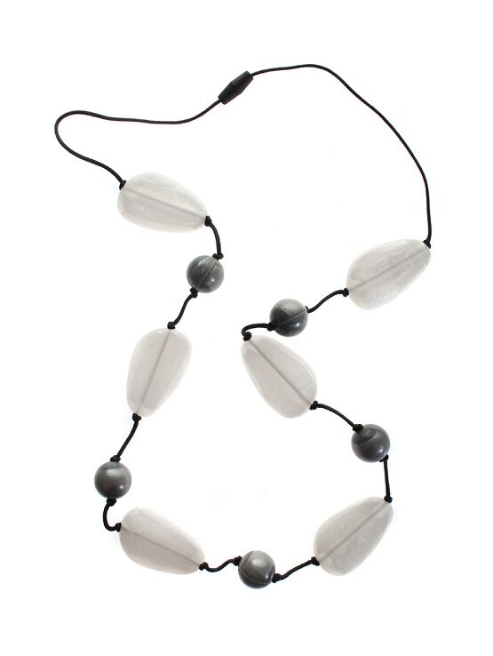 Gumigem Gumidrops Teething Necklace - Grey/White