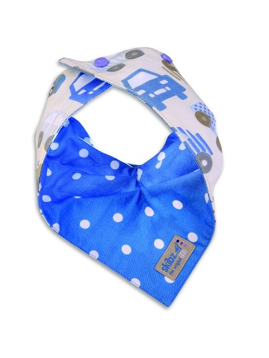 Skibz Doublez Reversible Dribble Bib Blue Spot Cars