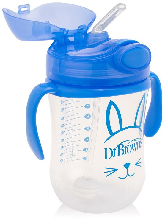 Dr Brown's Babys First Straw Transition Cup Blue