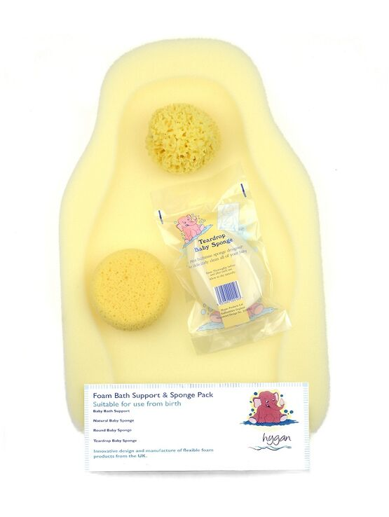 Foam Bath Baby Support & Sponge Pack