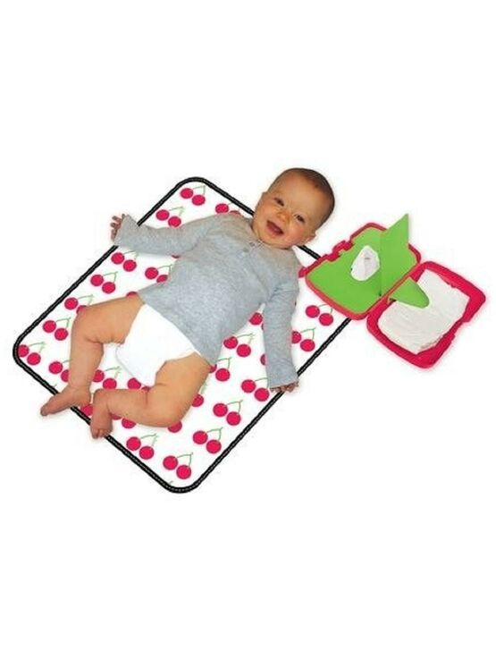 B.box baby Travel Diaper/Nappy Changing Kit in Cherry Delight