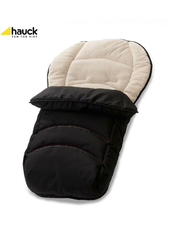 Hauck 2 Way Reversible Fleeced Cosytoe Footmuff - Black