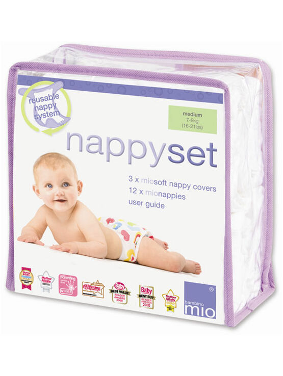 Bambino Mio Reusable Nappy Set - Medium 7-9kg