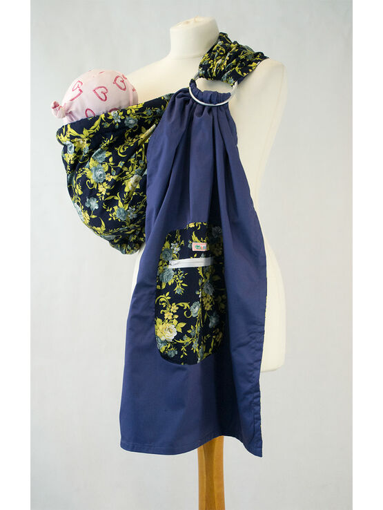 Ring Sling - Blue Flowers