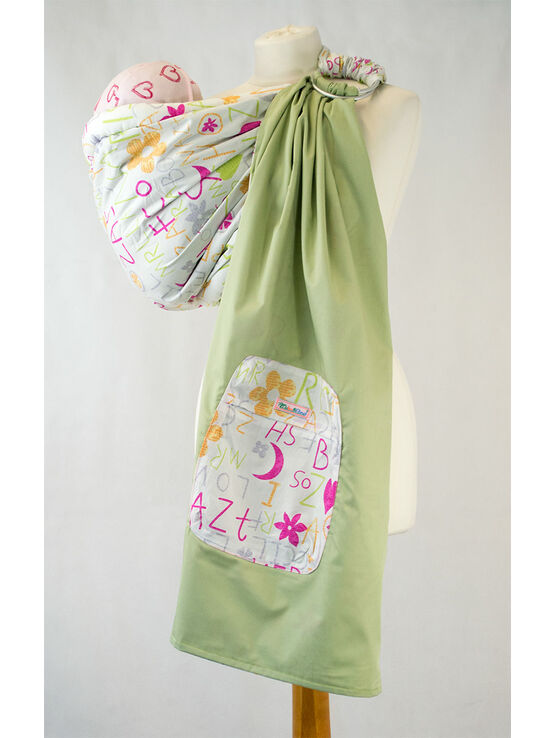 Palm & Pond Baby Ring Sling Carrier - Funky Letter Design