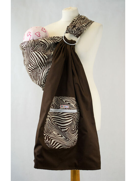 Ring Sling - Brown Zebra