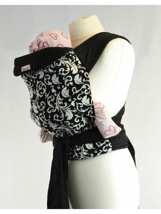 Palm & Pond Mei Tai baby carrier - Black and White Vintage