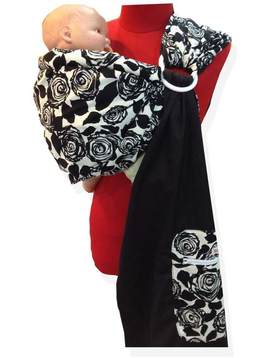 Ring Sling - Black Floral Design