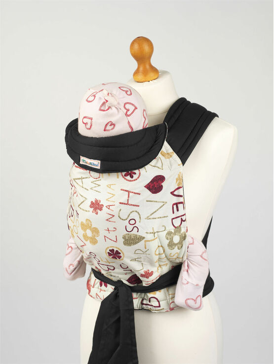 Palm and Pond Mei Tai Baby Sling - Funky Letters Design
