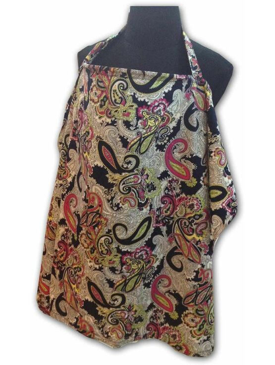 Palm & Pond Breastfeeding Cover - Black Paisley - 2 Sizes Available