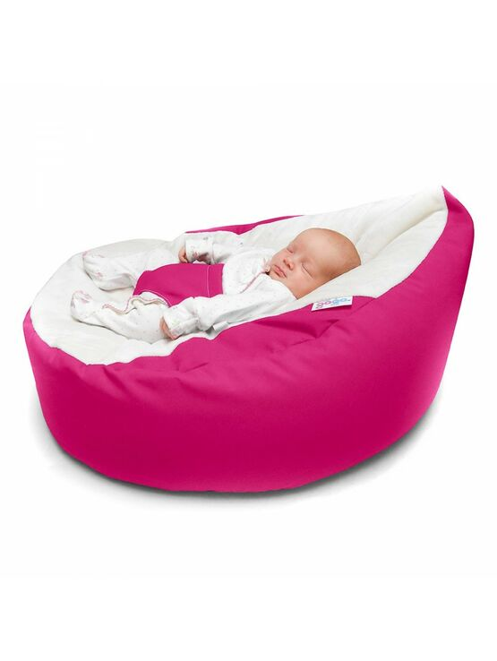 GaGa Pre-Filled Baby Bean Bag in Cerise Pink Colour