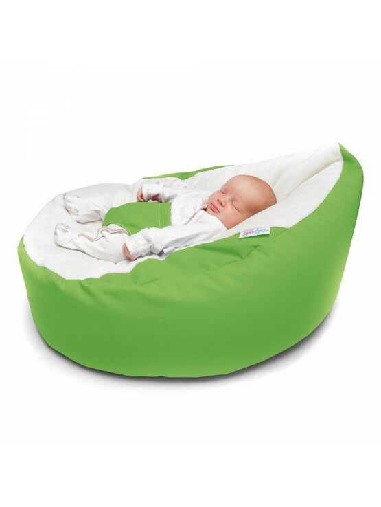 GaGa Lime Green Baby Bean Bag with Safety Harness